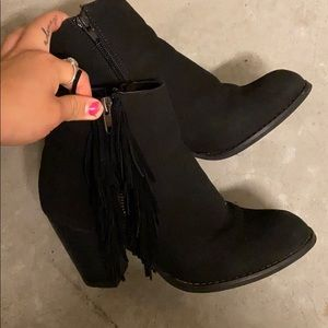 cathy jean fringe boots